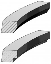 Taper Faced Ring with Inside Bottom Bevel or Step